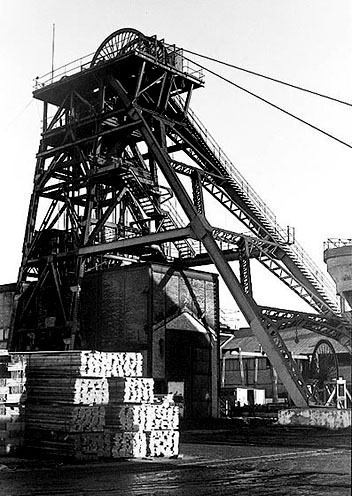 Betteshanger Colliery in 1989, the year it closed