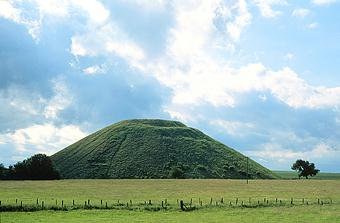 Silbury Hill earth mound, near Avebury, Wiltshire